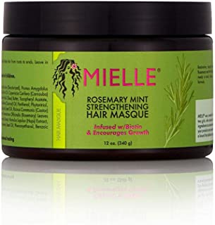 Mielle Organics Rosemary Mint Strengthening Hair Masque, Sulfate and Paraben Free, 12 Ounces