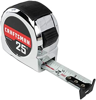 CRAFTSMAN Tape Measure, Chrome Classic, 25-Foot (CMHT37325S)