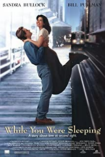 WHILE YOU WERE SLEEPING MOVIE POSTER 2 Sided ORIGINAL 27x40