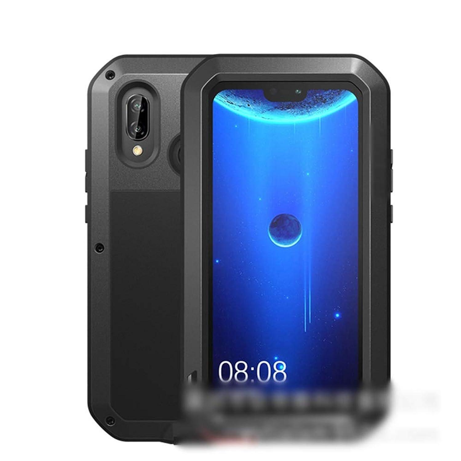 中央値感じ火曜日Tonglilili Huawei社P20、P20 Pro、P20 Lite、Mate10、Mate10 Pro、Mate20、Mate20 Pro、Nova 3e、Mate20 Lite用の3つの携帯電話シェル新しい金属製の落下防止カバー電話ケース (Color : 黒, Edition : Nova 3e)