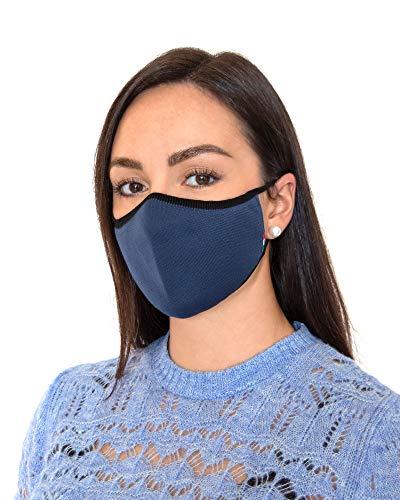 Relaxsan UNIMA [Blu Garda] – Fascia viso di cortesia Luxury ultra leggera e traspirante filato Dryarn e argento X-Static