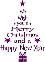 Honestyivan Merry Christmas Window Wall Sticker Decals Santa Claus Xmas Tree Home Decoration