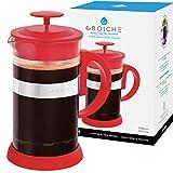 GROSCHE Zurich RED French Press Coffee Maker 34 fl oz, 1000ml, 8 Demitasse