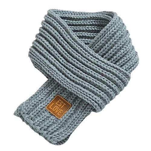 Zoylink Kinder Gestrickter Schal Normallack Einfacher Warmer Winter Schal für Jungen Mädchen