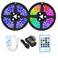 50Ft RGB LED Strip Lights for Professional Music Sync Color Changing Rope Lights with 450pc LEDs, Remote Controlled LED Lights, DIY Mode