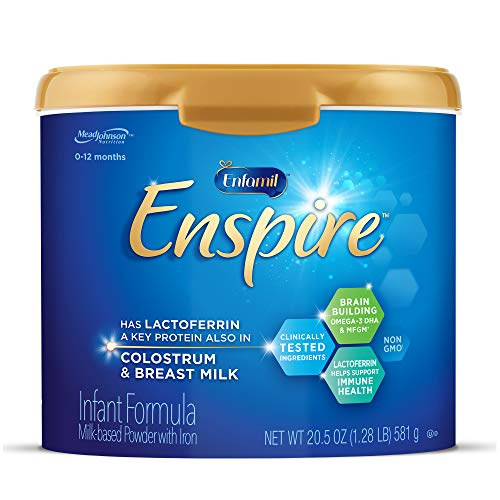 Enfamil Enspire Baby Formula Milk Powder, 20.5 Ounce, Omega 3 DHA, Probiotics, Immune & Brain Support, Pack of 1 (Packaging May Vary)