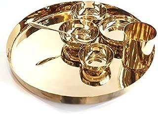 Pure Kansa (Bronze) Thali Dinner Set 7 Piece Dinner Set