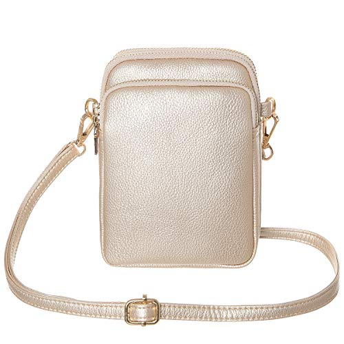 HAIDEXI Lightweight Nylon Small Purses or leather Small Crossbody bag Cell Phone Purses Wallet for...