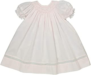Petit Ami Baby Girls' Smocked Daygown with Voile Insert