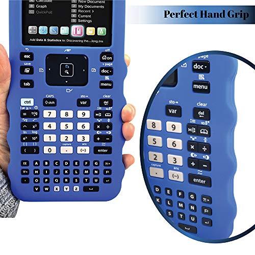 Sully Silicone Skin for Ti Nspire CX/CX CAS Handheld (Blue) w/Screen Protector - Silicon Cover Case for Ti-Nspire CX Hand held Graphing Calculator - Protective & Anti-Scretch Skins & Screen Covers Photo #7