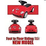 85700 Rastar Beetle Foot to Floor Push Along Kids Ride on Car - Rojo
