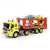 Xolye Kinderspielzeug Große LKW Anhänger Kombination Auto Spielzeug Set Puzzle Early Education Spielzeug Auto Geschenk Auto Transporter 2 Farben (Color : B)