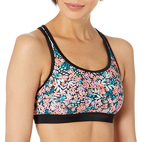 Body Glove - Sujetador Deportivo para Mujer, Amy Floral, XL
