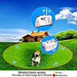 JUSTPET Wireless Dog Fence Training Dog Collar 2-in-1 System, Stable Signal Electric Wireless Pet Fence, Beep/Vibrate/Shock Remote Collar Rechargeable Waterproof