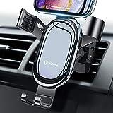 【正規品保証】車載ホルダー エアコン吹き出し口用 重力式自動開閉 ススマホホルダー 車 超便利 携帯ホルダー 取り付け簡単 スマホスタンド 取り付け簡単 スマートフォンホルダー クリップ式 安定性抜群 iPhone/Samsung/Sony/LG/Huawei など 4-7インチ全機種対応 (ブラック)