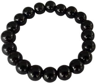 Natuxia Bracelet Tourmaline Noire de Lithothérapie Ions Négatifs, Protection Ondes Électromagnétiques, Bracelet Chakra Rac...