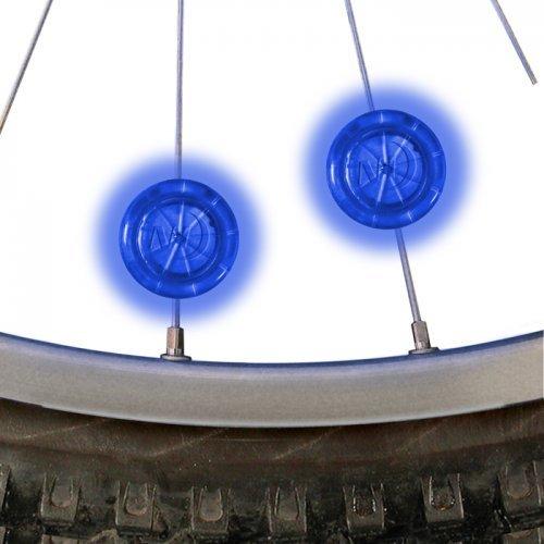 Nite Ize See Em Mini LED Bicycle Spoke Lights, Wheel Lights for Nighttime Visibility + Safety, 2 Pack, Blue