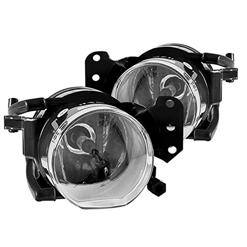 Winjet Fog Lights Compatible With 2004-2008 BMW E60 5 Series   Factory Style Polycarbonate Resin Clear Driving Running Foglight Foglamp Lamps LED Super Bright