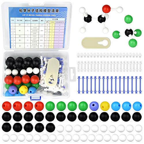 136pcs Organic Chemistry Molecular Model Set for Student and Teacher Inorganic & Organic Academic Chemistry Education 59 Atoms & 76 Links Bonds & 1 Link Atoms Remover