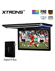 XTRONS® 15,6 pulgadas ultra delgada Full HD pantalla TFT 1080P vídeo coche techo monitor HDMI TV Box incluido