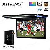 XTRONS 15.6 pulgadas ultra delgada FHD Digital TFT Pantalla 1080P Video Reproductor de Coche Montaje en Techo Monitor HDMI Puerto TV Box Incluido