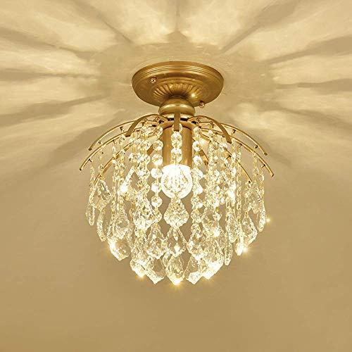 ▶ Crystal plafondlamp montage moderne schaduw haak beugel voor badkamer, Flush Mount K9 druppeltjes slaapkamer woonkamer hal kroonluchter plafond plafond interieur lamp keuken moderne echte kraal bar Edison E27