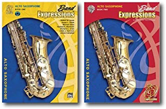 Band Expressions with CD for Alto Saxophone - Two Book Set - Includes Book 1 and Book 2.