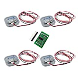 Onyehn 4pcs 50kg Human Scale Load Cell Resistance Half-Bridge/Amplifier Strain Weight Sensor with 1pcs HX711 AD Weight Module for arduino DIY Electronic Scale