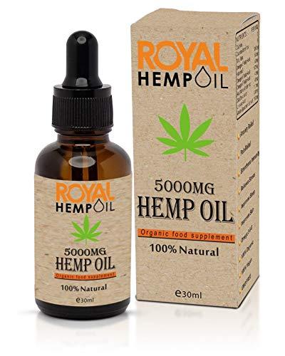 Organic Royal Hemp oil 5000MG 30ml Improves Sleep and Helps to Relax  ...