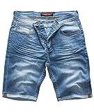 Rock Creek Pantaloncini da Uomo Denim Short Pantaloni Pantaloncini da Uomo Jeans Estate Stretch Bermuda Pantaloni Azzurro RC-2211 Lunga Vita Blu W40