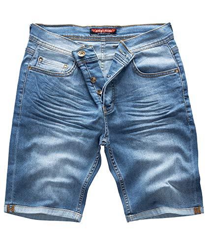Rock Creek Herren Shorts Jeansshorts Denim Short Kurze Hose Herrenshorts Jeans Sommer Hose Stretch Bermuda Hose Blau RC-2211 Longliveblue W38