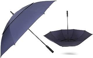 men strong windproof automatic long umbrella large man women's Business umbrellas,135 Windproof blue,