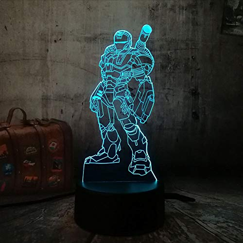 2019 Hero Action Figure Coole creatieve LED 3D 7 kleurverloop visuele stemming nachtlicht kind kinderen cadeau Brithday cadeau