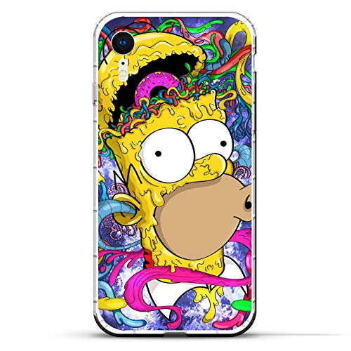 K-Kickim Case for Apple iPhone XR-Simpsons-Funny Cartoon 6 Clear Phone Case Coque Silikon Rubber