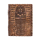 Leather Journal The hardcover of the journal is beautifully stamped with the ancient egyptian culture. The big blank pages are perfectly suited for those that like to draw and write when journaling. Looking for great looks and the best leather, this ...