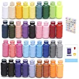 KEIMIX 72Pcs Sewing Threads Kits, 550 Yards Per Polyester Thread Spools, 36 Colors, Prewound Bobbins with Case for Hand & Machine Sewing
