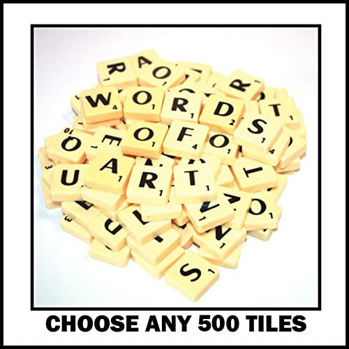 500 Plastic Letter Word Game Tiles of Your Choice (pick 'n' mix) Pick your own Letters