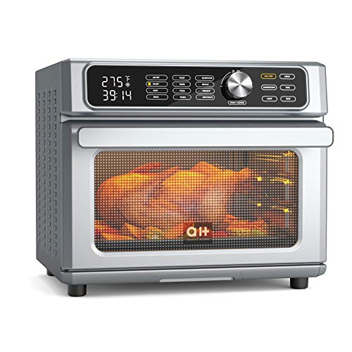 Aukey Home 12-in-1 Air Fryer Toaster Oven Combo, Digital Convection Oven and Dehydrator for Chicken, Pizza and Cookies, Large 24QT Countertop Oven...