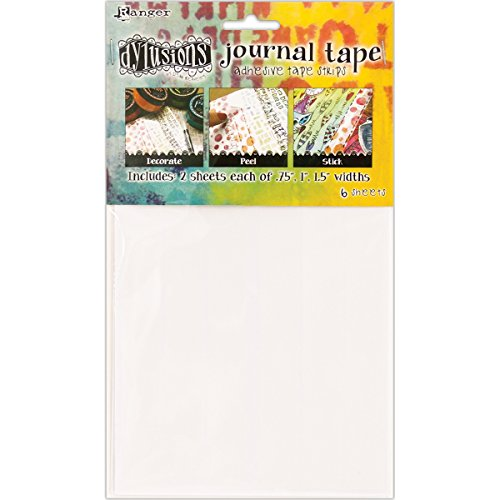Ranger Dylusions Journal Bandes de Ruban adhésif, Blanc