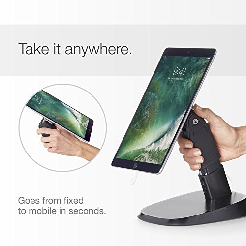 Durable, Portable Tablet Stand & Holder for Business Use. UNIVERSAL Size Tablet including all Apple iPads, iPad Minis, Samsung Tabs, Microsoft Surface, Kindle Fire, etc. Also can be a fixed kiosk.