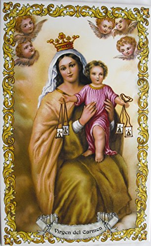 Rustiluz Azulejo de cerámica Virgen del Carmen 20 x 30 cm