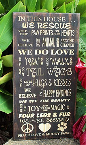 Personalized Dog Rescue Carved Wood Sign