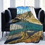 Montañas Foto Impreso Manta Tiro Ligero Super Suave Micro Fleece Throw Mantas Ajuste Sofá Cama Sala Sofá Silla 50x40in