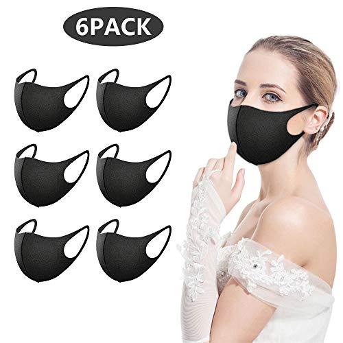 6 Stück Masken Mundschutz,Kälteschutz Gesichtsmaske,Anti-Beschlag Anti-Staub Maske für Radfahren,Wiederverwendbar Waschbare Für Männlich Frau für Laufen,Radfahren,Skifahren,Wandern,Klettern