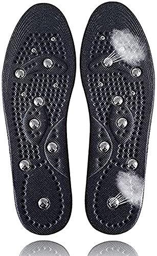 1Paar Akupressur Einlegesohlen, Relaxed Feet Orthopädische Sohlen mit 18 Magneten zur Stimulierung von Druckpunkten, Atmungsaktiv und kühl, Deodorant, Ermüdung Entlasten,Schwarz S(35-39) schwarz