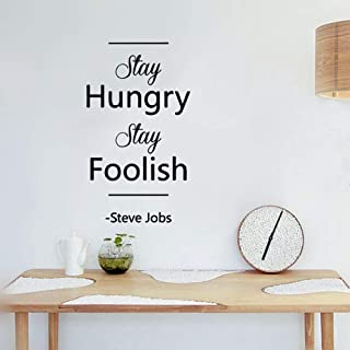 slepat Motivational Wall Sticker Quotes Stay Hungry Stay Foolish for Study Room Nursery Kids Room Play Room