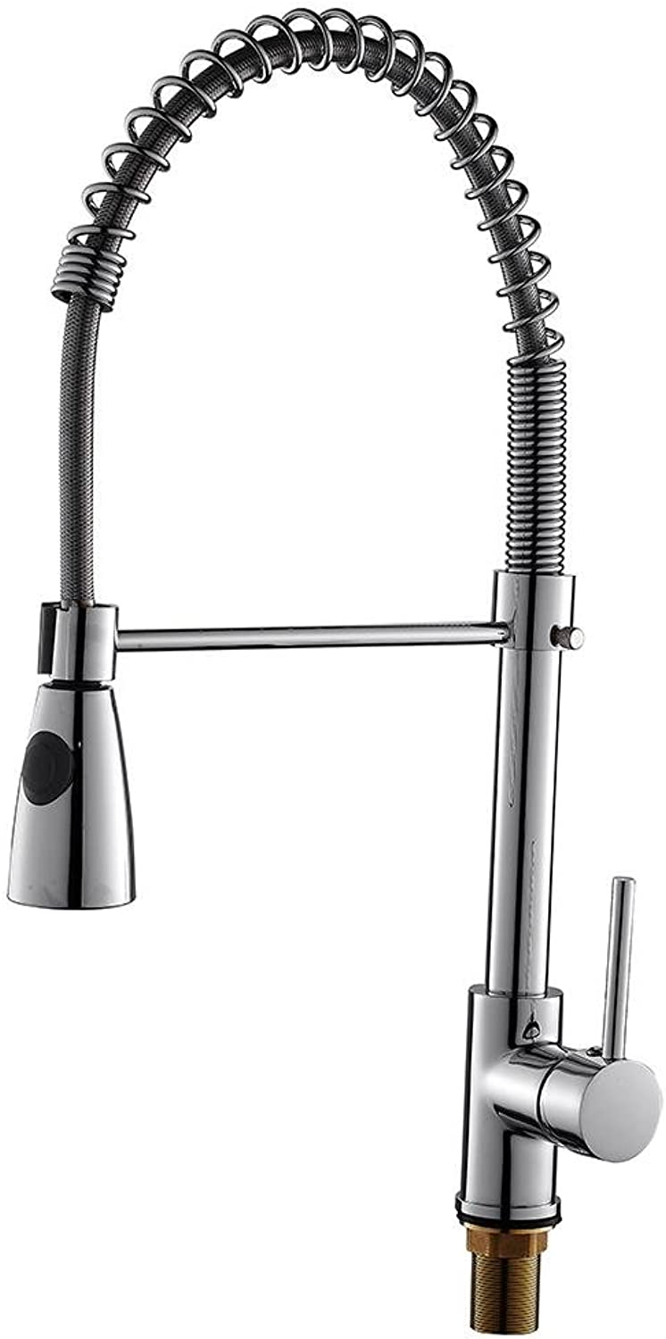 BKPH Contemporary Pull-out Kitchen Faucet Single Handle One Hole Bathroom Mixer Taps redatable