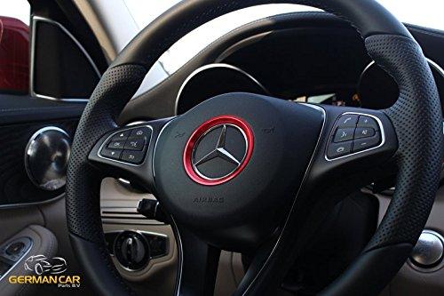 GermanCarParts Lenkrad Ring 58mm ROT Tuning für A B C CLA GLE GLC