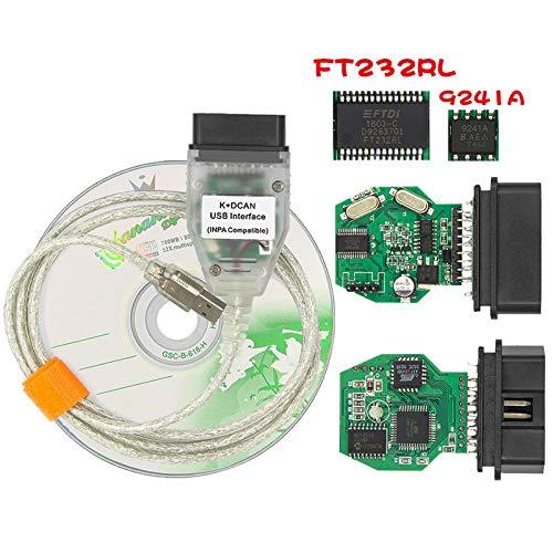 HaoYiShang INPA K + CAN für BMW mit FT232RL Chip INPA K + CAN K + DCAN Auto Diagnose Werkzeug Kabel OBD USB Interface für BMW R56 E87 E70 E90 E92 E93