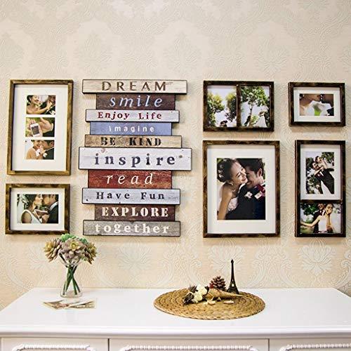 HYDD Kreative Kombination Fotowand,klassischer Fotorahmen Wandbehang Fotorahmen Fotostudio Brautkleid